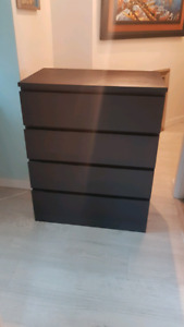 Great condition- 4 drawer Dresser Black