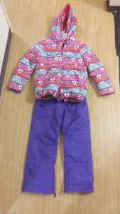 Girl's winter ski jacket and pants