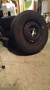Like New Winter Tires and Rims Kingston Kingston Area image 1