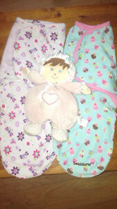 EUC summer swaddled and a doll