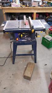 Table saw on stand