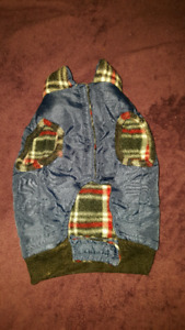 Reversible jacket for small dog.