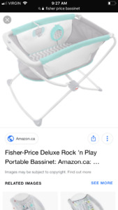 fisher price soothing bassinet $75 used less than 5 times