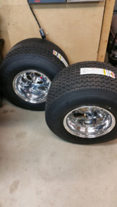 New Weld Racing Rodlite rims and Mickey Thompson Tires.