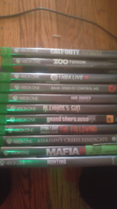 Xbox one games for sale.