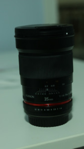 $500 Rokinon 35mm f/1.4 Lens for Canon Cameras
