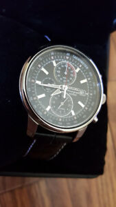 montre Seiko noir -  black Seiko watch chrono