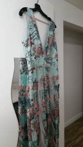 BCBG embroidered dress