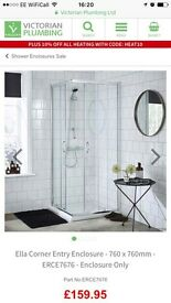 Victoria Plumbing Ella Shower Enclosure *New Unopened*