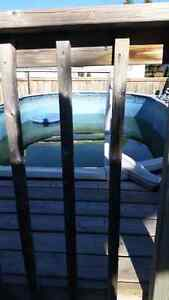 12x24 oval above ground pool 4 ft deep + filter 2000 obo