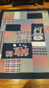 Pottery Barn Train Quilt