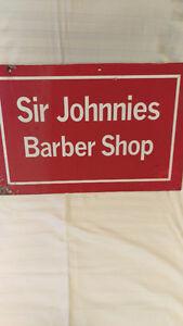 """""""Old Vintage Barber Shop Sign"""" Cambridge Kitchener Area image 1"""