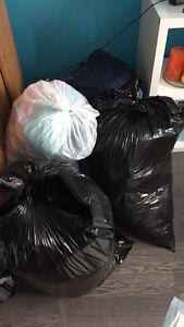 6 bags of clothes, must sell as lot