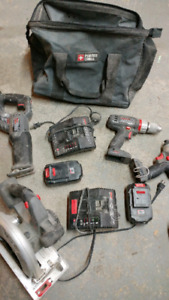 Kit d outils porter cable 18 volts