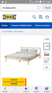 base de lit IKEA DOUBLE