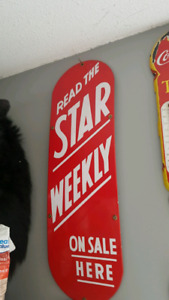 Star weekly palm push sign