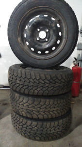 4 winter goodyear nordic tires on rims 185 60 14