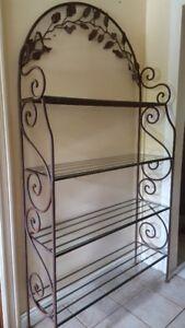 Beautiful Large Rustic Rod Iron Display Shelf