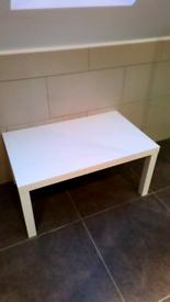 Ikea white malm side table,