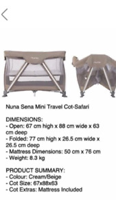 Nuna Sena Mini Travel Cot/Playpen
