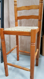 1 Bar/High Chair with Rattan seat vgc