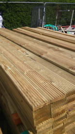 Decking. 4.8 m long 120 wide 28mm thick Only £12.00 each