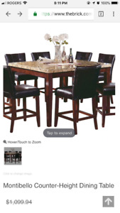 Montibello Counter-Height Dining Table