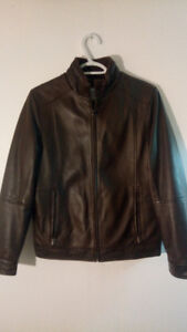 Peter Manning  Size 2 - Brown Lambskin Leather Jacket - Like New