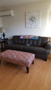 New Canadian made leather sofa / couch