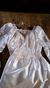 Size 18 Wedding dress and head piece