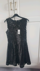 Black cequin dress Brand New size 10