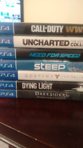 Ps4 games for sale (adult owned)