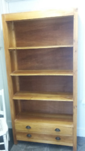 LARGE WOOD BOOKCASE
