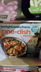 Lots of Weight Watchers books plus recipe cards and more