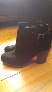 Brand New Suede Black Boots