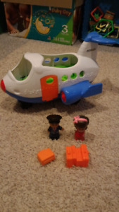 Fisher price, little people school bus and plane