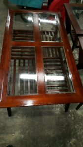 Solid wood Coffee Table & 2 End Tables