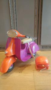 "Scooter and Helmet for 18"" doll"