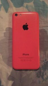 iPhone 5c in Pink with Bell $80 needs screen replacement