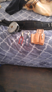 Tool belt for iron worker or anytype of rebar worm