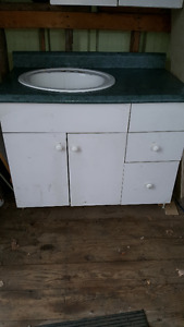 Cabinet/ Counter Top/ Sink/ 3 Drawers