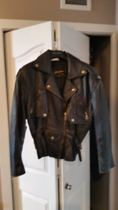 Nice Massimo Ladies Leather Motorcycle Jacket - Vintage