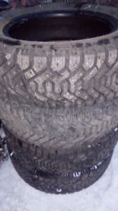 Set of four used WINTER TIRES! P195/60R14! Studded!!!