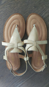 Brand new Born patent leather sandals, size 7.