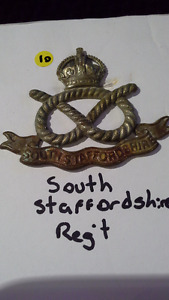 authentic World War 1 cap badge South Staffordshire regiment