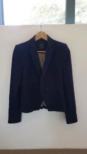 ZARA Trafaluc Collection Navy Blazer