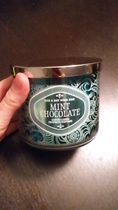Large Bath and body works  Mint Chocolate candle