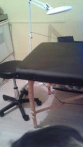 Table de massage pour cils