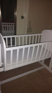 Solid wood infant cradle