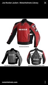 Joe Rocket Honda CBR Motorcycle Leather Jacket